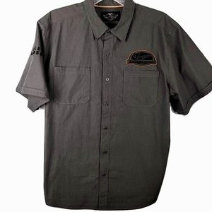 Harley-Davidson Garage Mechanic Shirt Gray Men 2XL